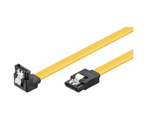 4040849950247 - Pro SATA Cable - 1 x 90° - Yellow - 1m